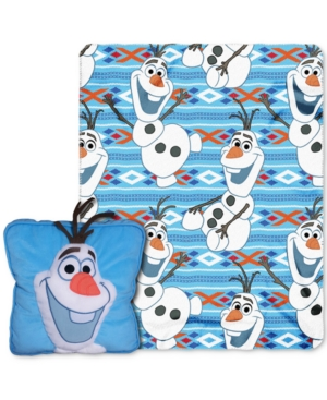 Disney Frozen All About Olaf 3D Pillow  Throw Set Bedding
