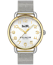 COACH Women's Delancey Stainless Steel Mesh Bracelet Watch 36mm