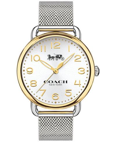 COACH Women's Delancey Stainless Steel Mesh Bracelet Watch 36mm