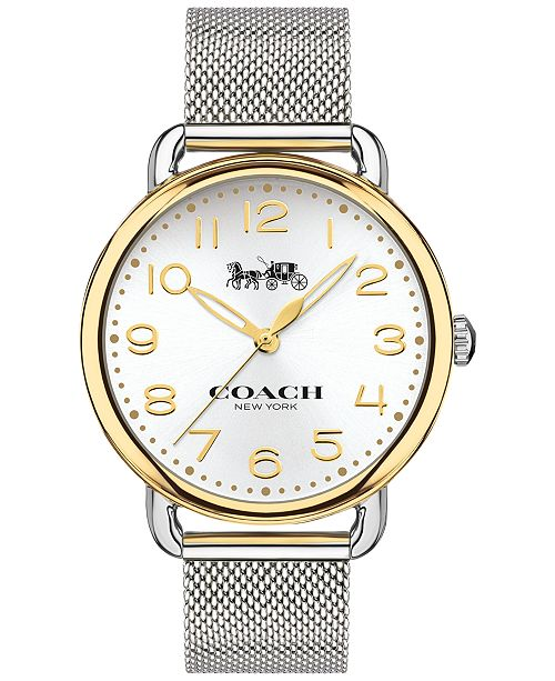 41a47233472a ... COACH Women s Delancey Stainless Steel Mesh Bracelet Watch ...