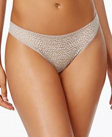 Modern Lace Satin-Trim Thong Underwear DK5013