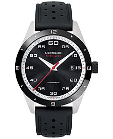 Montblanc Men's Swiss Timewalker Date Automatic Black Rubber Strap Watch 41mm