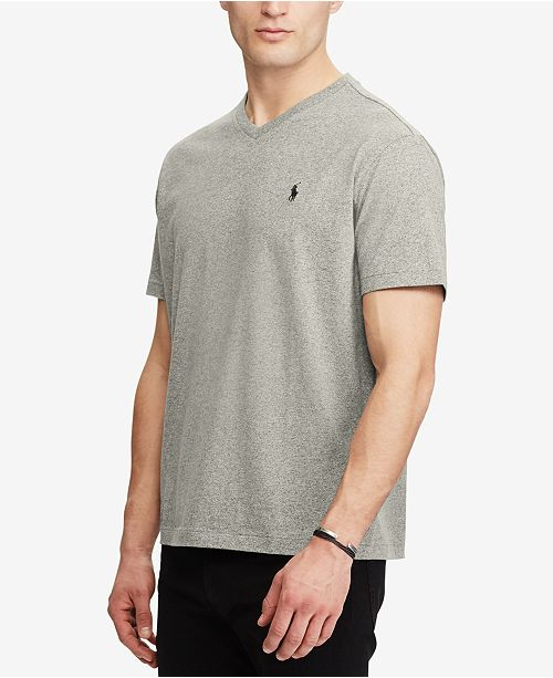 c1aed38e Polo Ralph Lauren Men's Classic-Fit V Neck T-Shirt & Reviews - T ...