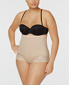 Maidenform Women's  Firm Foundations Curvy Plus Size Firm Control High Waist Brief DM1023