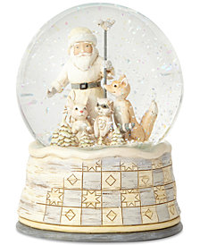 Jim Shore Woodland Santa Snow Globe