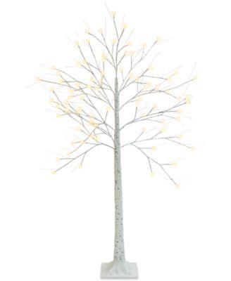 5-Ft. Decorative LED Birch Tree