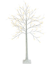 5-Ft. Decorative LED Birch Tree