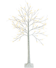 Mr. Christmas 5-Ft. Decorative LED Birch Tree