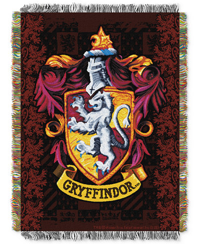 Warner Brothers Harry Potter Gryffindor Triple Woven Tapestry Throw