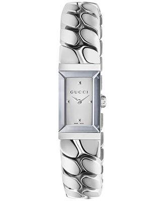 Gucci Women s Swiss G Frame Stainless Steel Chain Bracelet Watch