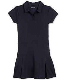 Nautica Pleated Polo Shirtdress, Big Girls