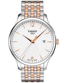 Men's Swiss Tradition Two-Tone Stainless Steel Bracelet Watch 42mm