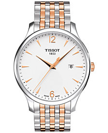 Tissot Men's Swiss Tradition Two-Tone Stainless Steel Bracelet Watch 42mm