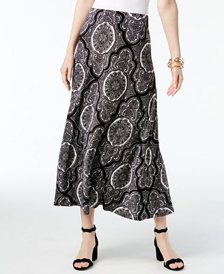 inc international concepts printed maxi skirt created for