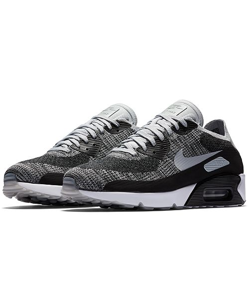 purchase cheap 1ab29 819b1 ... Nike Men s Air Max 90 Ultra 2.0 Flyknit Running Sneakers from Finish ...