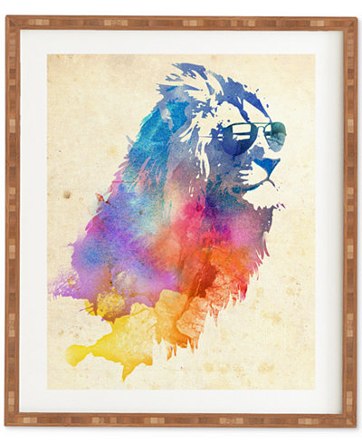 Deny Designs Robert Farkas Sunny Leo Bamboo-Framed Wall Art