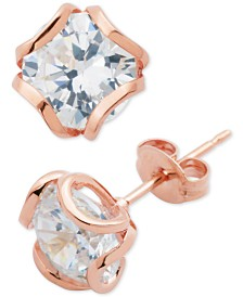 Giani Bernini Cubic Zirconia Petal Stud Earrings, Created for Macy's