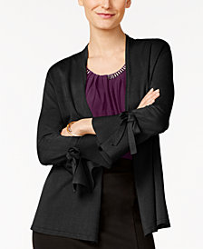 Alfani Petite Tie-Sleeve Cardigan, Created for Macy's