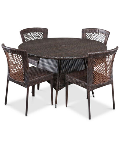 Chiese 5-Pc. Dining Set, Quick Ship