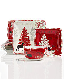 222 Fifth Northwood Cottage 12-Pc Dinnerware Set