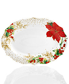 222 Fifth Winter Confetti Dinnerware Collection Oval Platter