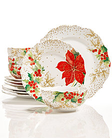 222 Fifth Winter Confetti 12-Pc. Dinnerware Set