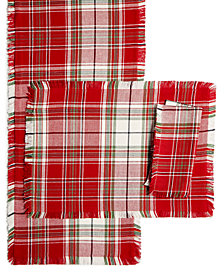 Homewear Holland Plaid Table Linens Collection