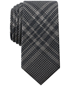 Bar III Men's Forest Glen Plaid Skinny Tie, Created for Macy's