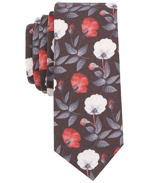 Bar III Men's Melody Floral Slim Tie, Created for Macy's