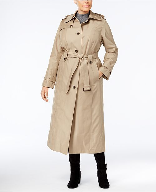 uk availability hot-selling genuine real deal London Fog Plus Size Maxi Trench Coat & Reviews - Coats ...