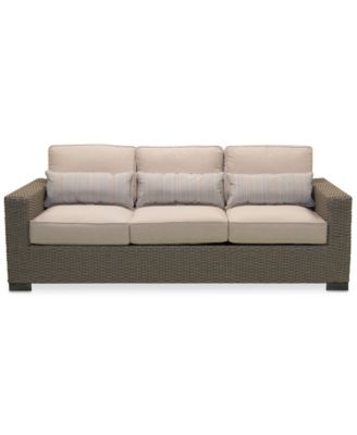 Del Mar Wicker Outdoor Sofa, Created For Macyu0027s