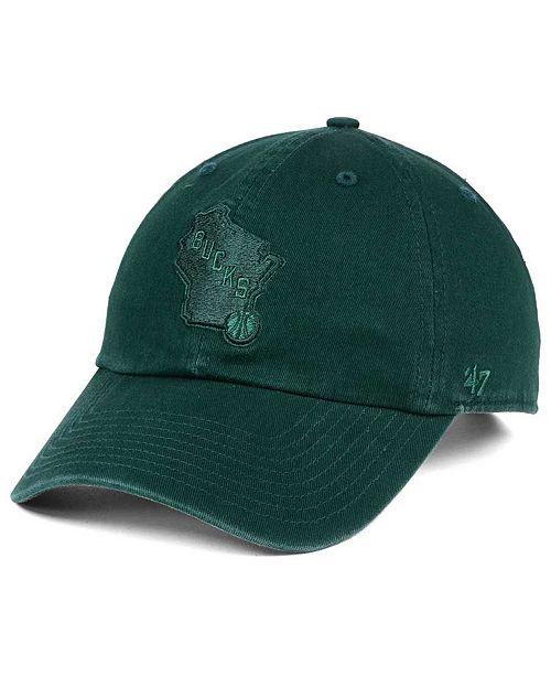 '47 Brand Milwaukee Bucks Triple Rush CLEAN UP Cap