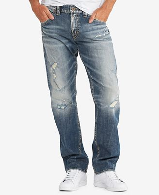 Silver Jeans Co. Men's Hunter Loose-Fit Tapered-Leg Stretch ...