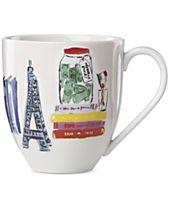 kate spade new york Illustrated Mug, Created for Macy's