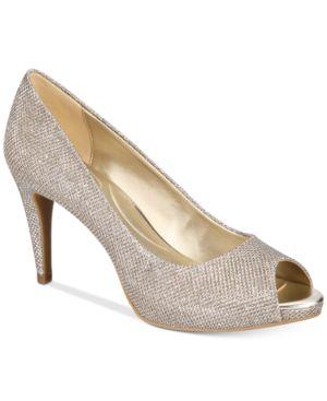 Bandolino Rainaa Peep-Toe Pumps Women's Shoes 7118054