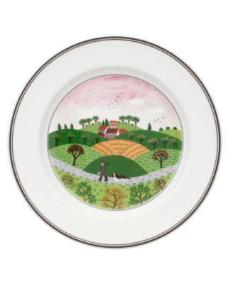 Dinnerware, Design Naif Rim Salad Plate Hunter & Dog