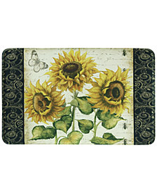 "Bacova French Sunflower 20"" x 35"" Accent Rug"