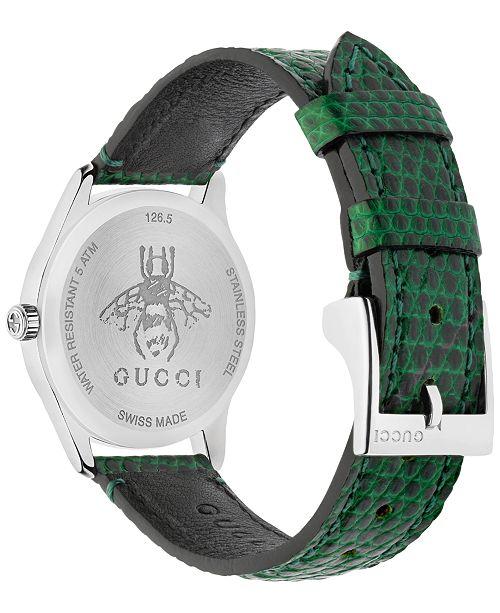 5c45981ec1 Gucci Women's Swiss G-Timeless Green Leather Strap Watch 29mm ...