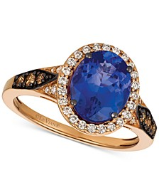 Chocolatier® Blueberry Tanzanite (2-1/2 ct. t.w.) & Diamond (3/8 ct. t.w.) Ring in 14k Rose Gold