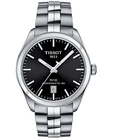 Tissot Men's Swiss PR100 Stainless Steel Bracelet Watch 39mm