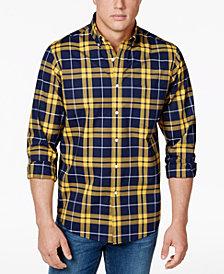 Club Room Men's Stretch Plaid Shirt, Created for Macy's