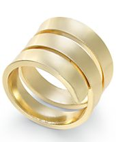 INC International Concepts Gold-Tone Polished Spiral Ring, Created for Macy's