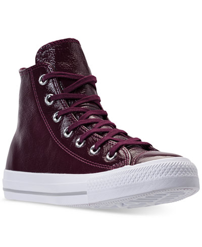 Converse Women's Chuck Taylor High-Top Patent Casual Sneakers from Finish Line