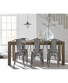 create your look mix match dining table quick ship chairs - Rustic Dining Table