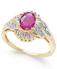 Ruby (1 ct. t.w.) & Diamond (1/3 ct. t.w.) Ring in 14k Gold