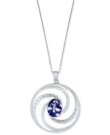Tanzanite (2-1/2 ct. t.w.) & Diamond Accent Pendant Necklace in 14k White Gold