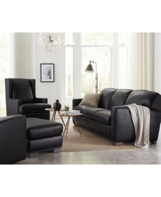 ackley leather sofa, created for macy's - furniture - macy's