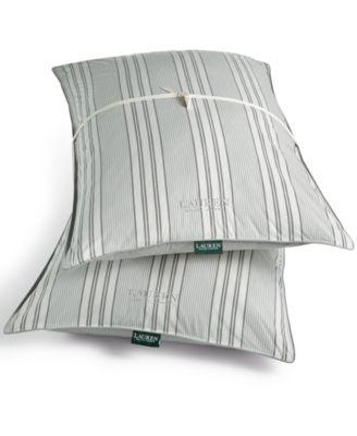 Graphton Reversible Yarn-Dyed Stripe 2 Pack Standard Pillows