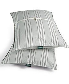Graphton Reversible Yarn-Dyed Stripe 2 Pack Standard Pillows