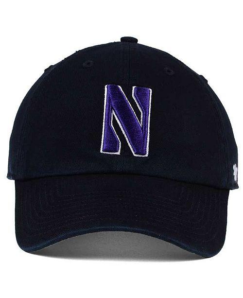 47 Brand Northwestern Wildcats CLEAN UP Cap - Sports Fan Shop By Lids -  Men - Macy s d29e598a2149